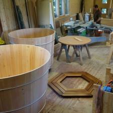Zwei Holzwhirlpool in Arbeit!