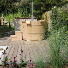 Tolles Gartenprojekt mit Balubad Holzbadebottich!