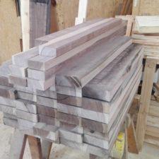 Es bleibt sehr wenig verwendbares Holz vom Einkauf übrig.