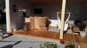 Neues Holzmöbel im neuen Anbau!