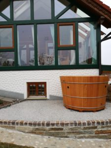 Badefass Modell 2 in Lärchenholz