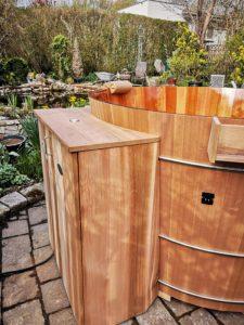 Anbaukasten beim Badebottich für E-Heizung