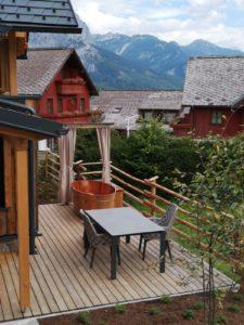 Balubad Außenbadewannen beim Hüttendorf Mondi Holiday am Grundlse!