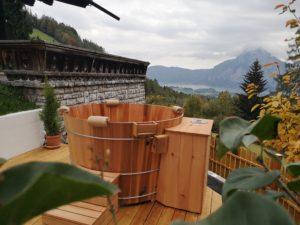 Zedernholz Bottich mit E-Heizung